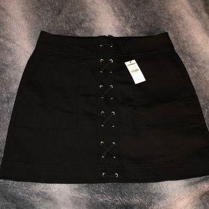 Express Black Lace Up Mini Skirt